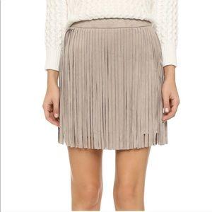 BB Dakota Skirts - Faux suede fringe B.B. Dakota skirt